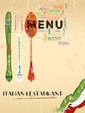 Menu design for italian restaurant Stock Image