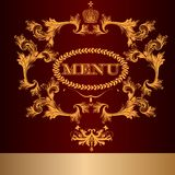 Menu design in luxury royal style Royalty Free Stock Photo