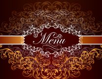 Menu design in luxury style Stock Photos