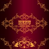 Menu design in luxury vintage style Royalty Free Stock Photos