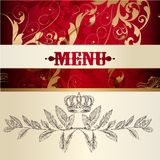 Menu design  with ornament Royalty Free Stock Image