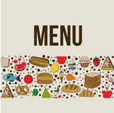 Menu design Royalty Free Stock Image