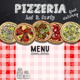 Menu design in the pizzeria Stock Images
