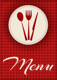 Menu design in red color Stock Photos