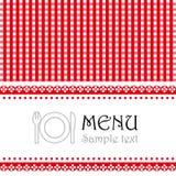 Menu design for restaurant Royalty Free Stock Image