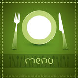 vector menu design Stock Images