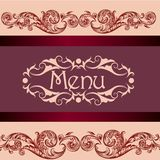 Menu design for restaurant or cafe Royalty Free Stock Photos