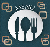 Menu Design. Restaurant Menu Design in Retro Style Royalty Free Stock Photography