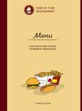Menu design for restaurants Stock Images