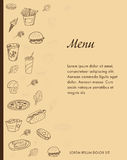 Menu design for restaurants Royalty Free Stock Images