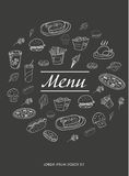 Menu design for restaurants Royalty Free Stock Photography