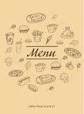 Menu design for restaurants Royalty Free Stock Image
