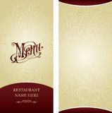 Menu design template Stock Images