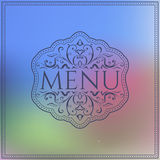 Menu design template on blurred background Royalty Free Stock Photo