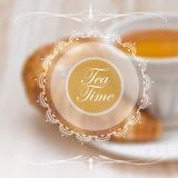 Menu design template with tea cup Stock Images