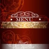 Menu design  in vintage royal style Stock Image