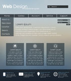 Menu design for web site Stock Image