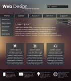 Menu design for web site. With different interface elements. Template, blurred background Royalty Free Stock Photography
