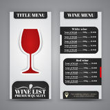 Menu Design for wine cafes, restaurants Royalty Free Stock Image