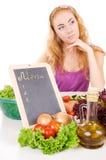 menu deskowi warzywa Zdjęcia Stock