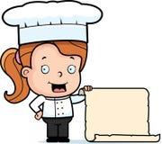 Menu di bambino del cuoco unico Immagini Stock