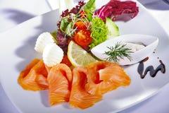 Menu di color salmone fotografia stock libera da diritti