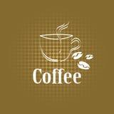 Menu di concetto dell'etichetta della tazza di caffè Fotografie Stock Libere da Diritti