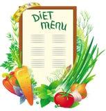 Menu di dieta Fotografia Stock