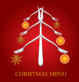 Menu di natale. Immagine Stock