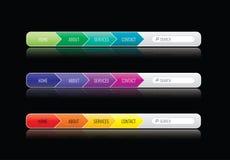 Menu di Web site di Colorized Fotografie Stock Libere da Diritti
