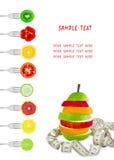Menu dietetico Fotografia Stock