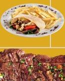Menu do alimento. imagem de stock