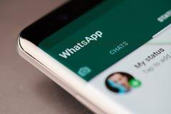 Menu do bate-papo de Whatsapp imagens de stock