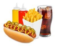 Menu do cachorro quente Imagens de Stock