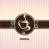 Menu do café Imagem de Stock Royalty Free