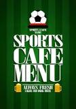 Menu do café dos esportes ilustração stock