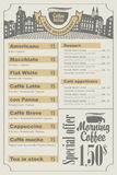Menu do café Imagem de Stock Royalty Free