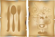 Menu do café Foto de Stock Royalty Free