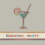 Menu do cocktail Imagens de Stock