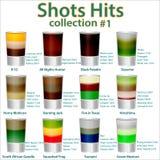 menu do cocktail A coleção de doze cocktail Fotos de Stock Royalty Free