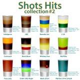 menu do cocktail A coleção de doze cocktail Fotografia de Stock