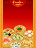 Menu do dim sum Fotos de Stock Royalty Free