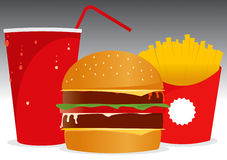 Menu do Hamburger Imagens de Stock Royalty Free