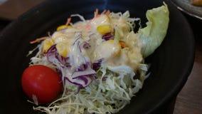 Menu do japonês da salada misturada dos vegetais fotos de stock
