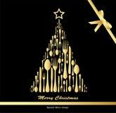 Menu do Natal Fotografia de Stock Royalty Free