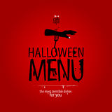 Menu do restaurante de Halloween. Fotografia de Stock Royalty Free
