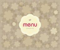 Menu do restaurante do projeto de conceito Imagens de Stock Royalty Free