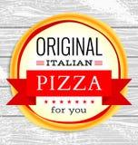 Menu do restaurante do vetor com pizza Fotos de Stock
