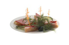 Menu do restaurante: sanduíche de presunto fotografia de stock royalty free
