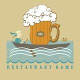 Menu do restoraunt da cerveja Imagens de Stock